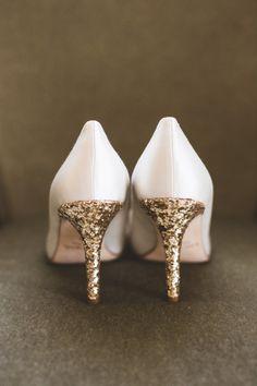 Gold sparkly heels: http://www.stylemepretty.com/washington-dc-weddings/2014/04/16/elegant-meridian-house-wedding/ | Photography: Maria Vicencio - http://www.mariavicencio.com/
