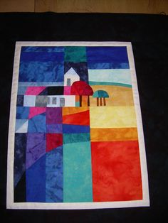 Quilt I made inspired by the work of a Dutch artist named Ton Schulten