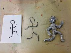 Initial Steps for Making a Gestural Sculpture Art Lesson | Teach the principle of design called movement to your art students. | Art Projects for Kids