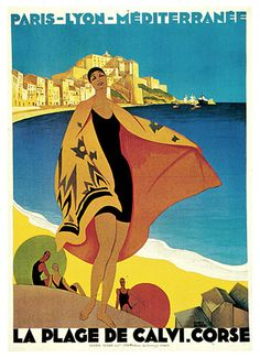 `Art Deco image, Côte d'Azur, France.