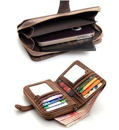 Handmade Genuine Leather Wallet / iPhone 4 4s by MilanStudio