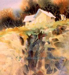 Cliffhanger | Free Watercolor Tutorials by Teresa Ascone