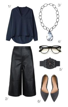summer office style: leather culottes and a billowy blouse // click through for outfit details
