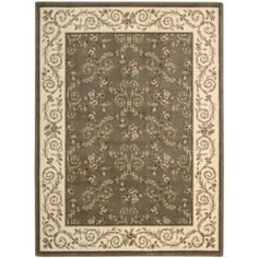 cool Nourison Somerset Brown/ Beige Floral Rug (2 x 2'9) Check more at http://yorugs.com/product/nourison-somerset-brown-beige-floral-rug-2-x-29/
