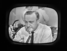 "I don't have a board for this image. I don't think there is one. ""Walter Cronkite announcing the death of President Kennedy on CBS, 1:00 PM CST, November 22, 1963"""