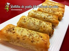 Finger Food Appetizers, Finger Foods, Appetizer Recipes, Recetas Pasta Filo, Canapes, Hot Dog Buns, Pasta Recipes, Catering, Brunch