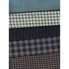 Bundle (5 pieces) of Blue Plaid, Stripe or Checked Woven Cotton Craft Fabric Listing in the Other,Yardage,Fabrics,Crafts, Handmade & Sewing Category on eBid United States | 147624594