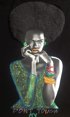 Afro T-shirt  Don't Touch My Hair  Afrocentric Art T shirt   Natural Hair Curly