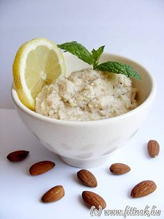"""""""cottage cheese"""" from Almond Mandulatúró Egg Replacement, Cottage Cheese, Kefir, Paleo, Almond, Dairy, Pudding, Sweets, Vegan"""