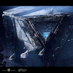 Space Fantasy, Fantasy Concept Art, Sci Fi Fantasy, Alien Covenant Concept Art, Spaceship Art, Fantasy Art Landscapes, Black Love Art, Futuristic City, Concept Ships