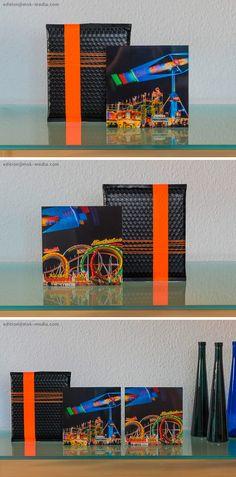 Für alle Freunde des bewegten Lichts! In limitierter Auflage, jeweils 50 Stück erhältlich. . . . TURBO FORCE und OLYMPIA, 20 x 20 cm, echter Fotoabzug hinter Acrylglas auf Alu-Dibond, inkl. edler Verpackung » Jeweils EUR 50,– . . . . . . KONTAKT unter edition@msk-media.com  #Kunst #Fineart #Fotografie #Lichtkunst #Lights #Geschenk  #Wasen #Oktoberfest  #Edition #mskmedia