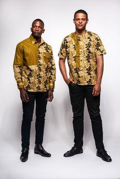 A cotton mens ankara printed shirt. XS Neck: Chest: Arm: S Neck: Chest: Arm: M Neck: Chest: Modern African Clothing, African Print Fashion, Africa Fashion, African Wear, African Attire, African Print Shirt, African Shirts For Men, Mens Designer Shirts, Mens Fashion Wear