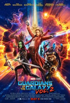 New Guardians of the Galaxy Vol 2 poster.