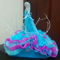 Centro de mesa fiesta Frozen Elsa