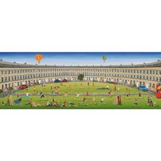 """""""The Crescent, Bath"""" - Another popular Louise Braitwaite Shows off the iconic Royal Crescent which would make a perfect gift for a native! Personalized Puzzles, Jigsaw Online, Wooden Jigsaw Puzzles, Online Gifts, Bold Colors, Contemporary Art, Dolores Park, Bath, Popular"""