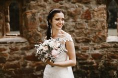 This German wedding at Hotel Kloster Nimbschen is full of amazing DIY details, beautiful bridal style, and incredibly romantic moments.
