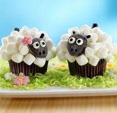 Little Lamb Cupcake Recipe easter cupcakes diy easter crafts easter diy easter cupcakes easter food ideas easter recipes Lamb Cupcakes, Sheep Cupcakes, Animal Cupcakes, Spring Cupcakes, Marshmallow Cupcakes, Sheep Cake, Flower Cupcakes, Mocha Cupcakes, Banana Cupcakes