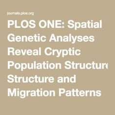 PLOS ONE: Spatial Genetic Analyses Reveal Cryptic Population Structure and Migration Patterns in a Continuously Harvested Grey Wolf (Canis lupus) Population in North-Eastern Europe