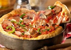 Chicago Style Deep Dish Pizza !  http://www.foodnetwork.com/recipes/emeril-lagasse/chicago-style-deep-dish-pizzas-recipe/index.html