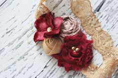 Cranberry Cordial gold and cranberry red by babybirdieboutique, $16.50
