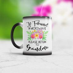 Mug if found in microwave Please Return to Grandma Birthday Gift Mug with sayings Return to grandma funny grandma gift from Granddaughter #funnymug #supportsmallbusiness