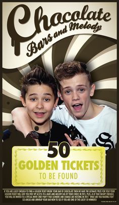 This is an 80g milk chocolate bar and hidden in 50 of these bars of chocolate are special Golden tickets.Each Golden Ticket entitles you to go to ANY one Bars and Melody gig of your choice in 2015 for FREE. At that gig you will have VIP access and get to meet and hang out with Charlie and LeondreAs if this wasn't enough , each Golden ticket will also get you entrance to a special party that Leondre and Charlie are hosting in 2015. The date and location of the party are sti...