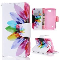 Fashion Painting Colorful Flower Wallet Flip Leather Cover Case with Stand Cases Iphone 6, Iphone 5s, Lg Cases, Cell Phone Wallet, Wristlet Wallet, Pouch, Leather Case, Pu Leather, Leather Wallet