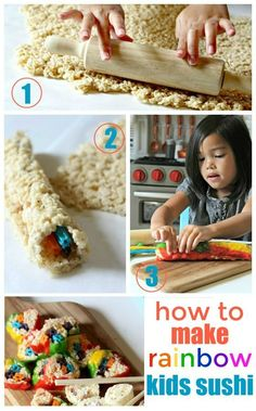 Rainbow foods are on trend right now and rainbow sushi happens to be one of my favorites! There's no need to leave the kiddos out - make these fun kids rainbow sushi recipes today.