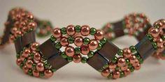 Copper & Brown Tila Bracelet