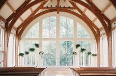 The most breathtaking wedding venues in Houston includes Ashton Gardens, an all-glass chapel. Photo by Mint Photography