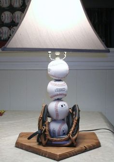 Baseball table lamp by Midwestclassiccrafts on Etsy