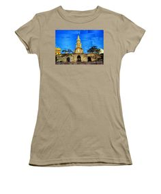 Women's T-Shirt (Junior Cut) - The Gate And Clock Tower In Cartagena Colombia