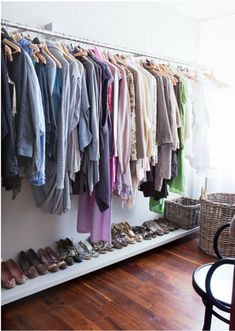 Studio Apartment Closet Solutions one wall of my closet. i turned a spare bedroom into a closet