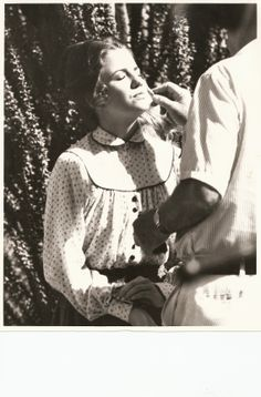 Laura backstage on Little House on the Prairie