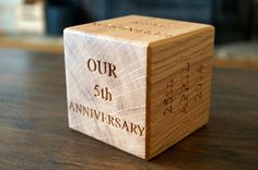 Click here for 5th year anniversary blocks from Make Me Something Special - providers of bespoke handmade gifts which are made with care in the UK