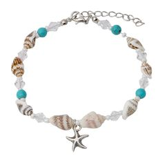 Boho Anklet Bracelet, Conch Shell Turquoise Clear Acrylic Faux Pearl Beaded Ankle Beach Foot Chain with Starfish Charm Anklet for Women and Girls * Click on the image for additional details. (As an Amazon Associate I earn from qualifying purchases) Silver Ankle Bracelet, Foot Bracelet, Anklet Bracelet, Bracelets, Bow Jewelry, Anklet Jewelry, Beach Feet, Beach Anklets, Conch