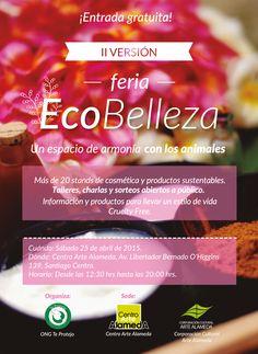 Nuestros productos en Feria EcoBelleza este sábado 25 abril.
