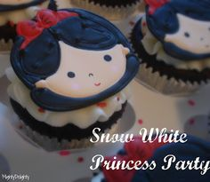 Home - Mighty Delighty Princess Party Cupcakes, Princess Cookies, Kid Cupcakes, Disney Princess Party, Cupcake Cakes, Cupcakes Design, Cup Cakes, Snow White Cupcakes, Snow White Cake