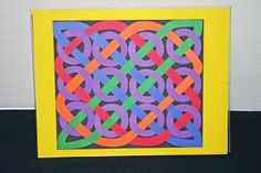 A fun project for children or adults - use construction paper, scrapbook paper or even felt or fabric to make this Celtic 12 Circles design.