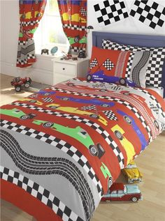 New Boys Racing Car Bedding Duvet Cover Sets Kids Quilt Covers Amp Curtains