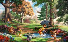 Winnie the Pooh by Thomas Kinkade