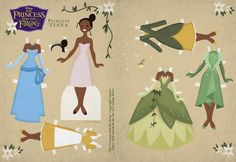 Tiana Paper Doll (by Cory Jensen, based on art by Lorelay Bove)