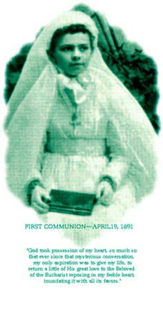 """Happy """"first"""" Memorial of this new Saint (canonised 16 October 2016) – St Elizabeth of the Trinity – November 8 #pinterest #stelizabethofthetrinity Elizabeth Catez offers hope to any parent who struggles with a strong-willed child. A holy terror as a toddler, she once embarrassed her mother by shouting out at Mass, """"Bad priest! Bad priest! That's my doll!"""" The priest had secretly borrowed her doll to be used as the Christ Child in his .......#myedit"""