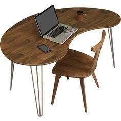 custom standing desk kidney shaped mid. our copeland essentials kidney shaped desk is a retro statement piece for any midcentury modern office finely handcrafted from solid natural walnut custom standing mid