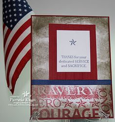 Today we honor all our Veteran's.  A thank you card for them.  God Bless you and your families, for your service, sacrifice and dedication.