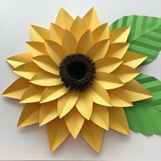 Giant Paper Flower Templates | 3D Large Paper Flower Stencil Pattern | DIY Handmade Paper Flowers | Paper Flower Decor and Backdrop for Weddings and Events Sunflower Template, Flower Petal Template, Pot Mason Diy, Mason Jar Crafts, Paper Sunflowers, Paper Flowers Diy, Origami Flowers, Diy Home Decor Projects, Diy Projects To Try