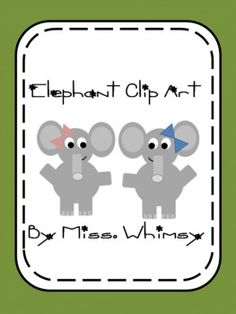Free Elephant Clip Art for personal or commercial use! Great or adding to teacherspayteachers lessons!