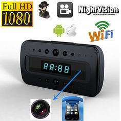 Hd1080p wifi #night #vision ip spy #camera dvr in alarm clock for android iphone,  View more on the LINK: 	http://www.zeppy.io/product/gb/2/321860511328/