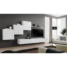 JUSThome SWITCH X Wohnwand 160x330x40 Weiß