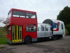 Supercar - 1991 Tube Bus Train Restored  - Is it a train? Is it a Tube? Is it a bus? Yes, It's a SuperCar.
